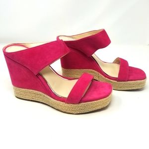 Jessica Simpson NEW Pink Suede Leather Wedges